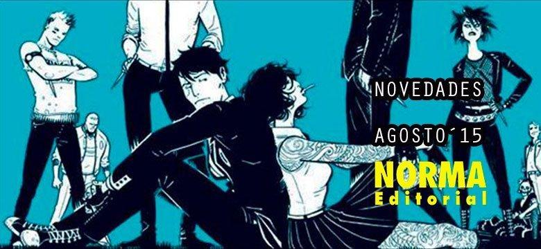 NOVEDADES NORMA EDITORIAL AGOSTO 2015